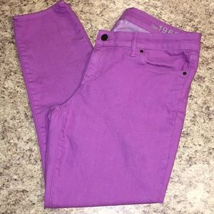GAP 1969 ALWAYS SKINNY light purple Jeans 32/14